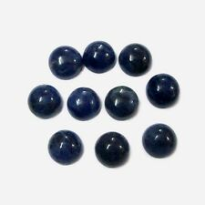 Natural Blue Sapphire Cabochon Round 3mm - 10mm Calibrated Size Loose Gemstone