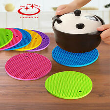 Silicone Placemat Coasters Cushion Cup Pot Pad Mat Holder Round Heart Shape New