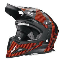 Arctic Cat Just1 Adult MX Sno Cross Sno Pro Helmet - Orange & Black 5262-36_