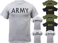 Mens Physical Training Military Short Sleeve Exercise Workout T-Shirt