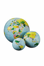 "Replogle Inflatable World Globe, 12"", 16"", or 27""; Light or Dark Blue."