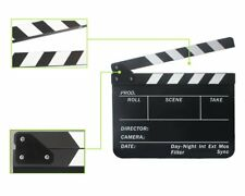 Director Video Scene Acrylic Clapperboard TV Movie Clapper Board Film Slate Cut