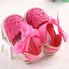 Cute Baby Girls Lace-up Flowers Bow Shoes Infant Toddler Baby Soft Crib Sandals