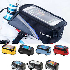 New Waterproof Cycling Bike Bicycle Front Frame Pannier Tube Bag For Cell Phone