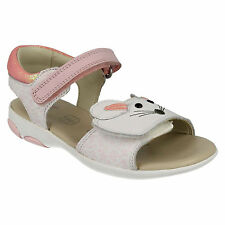 INFANT GIRLS CLARKS WIGGLE TAIL FLAT VELCRO FASTENING CASUAL SUMMER SANDALS