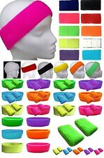 Neon Wristbands Sweatbands Headband &/or Pk 2 Wrist Bands  Neon  Fancy Dress O#