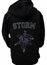 Ice Skating Hoodie Personalised Rhinestone Diamante Design Girls & Adults ZIP UP