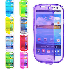 New Clear Flip Skin Gel Silicone Case Cover For SAMSUNG GALAXY S3 S III i9300