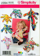 SIMPLICITY PATTERN STUFFED ANIMALS ELEPHANT GIRAFFE HIPPO MONKEY RHINO # 2394
