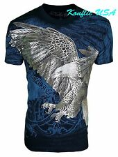 Konflic NWT Men's Soaring Giant American Eagle Graphic MMA Muscle T-Shirt