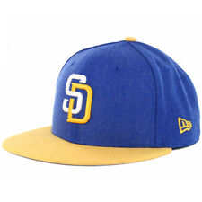 New Era 59Fifty Heather Action SU16 San Diego Padres Fitted Hat (Royal/Gold) Cap