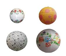 12pc Assorted Chinese Japanese Wedding Party Home Floral Round Paper Lantern Set