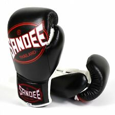 Sandee Cool-Tec Lace Up Boxing Gloves - Black