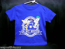 Phineas & Ferb T Shirt Childs Kids  Brand New  So Not Busted  Pick A Childs