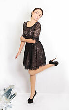 %Darling Amelia Lace Dress black M-L Corr. Size 36-38