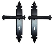 Tudor Lever Lock Hand Forged Door Handle Iron Unsprung Lever Door Handle Set