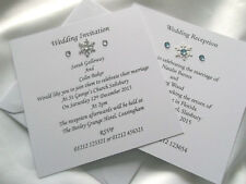 Personalised Wedding/Save the Date/Evening Invitations - Winter/Snowflake