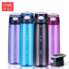 Cycling Bike Bicycle Tritan Straw Cup Sports Water Bottle with Dust Cover 24oz