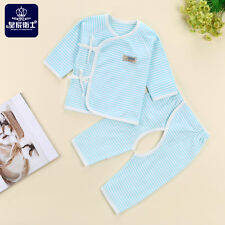 New Baby Infant Boy Girl Long Sleeve Cotton Shirts+Pants 2PC set Outfit Clothing