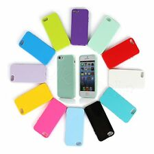 Soft TPU Silicone Gel Rubber Solid Colour Back Case Cover Skin For iPhone 5 5S