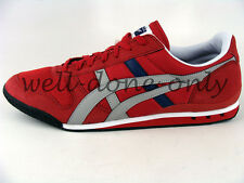 Asics Onitsuka Tiger Ultimate 81 red light grey blue black mens vegan shoes NIB