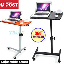 2 Colors Mobile Rotating Laptop Computer PC Desk Bed Adjustable Stand Table Tray