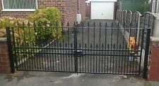 DRIVE GATE, METAL GATE, 10 FOOT GATE, 5  FT HIGH, GATE.