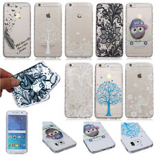 New Ultra Slim Case Back Cover Pattern Soft TPU Silicone Transparent For Samsung