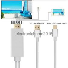 Output 1080P HDTV HDMI AV Cable Adapter Cord for iPhone 5 6 Plus Big Screen Film