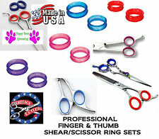 RUBBER Finger&Thumb Ring Sizing Insert SET for Arius Eickert, iO Shears Scissors