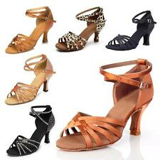 Brand Ladies Ballroom Latin Salsa Dance Shoes Tango Rumba Samba Heel US5-9