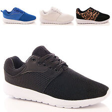 LADIES WOMENS FITNESS SUMMER TRAINERS LACE UP CASUAL SPORT FASHION STYLE SHOES