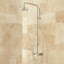 Stiles Exposed Pipe Shower System with Rainfall Shower Head and Hand Shower