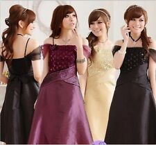 new lady women spaghetti strap plus size formal cocktail dress party prom gown