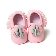 Summer New Cute Toddler Lacing Girls/Boys  Baby Moccasins Tassel Soft Crib Shoes