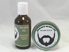 Aromaman Natural Beard Balm + Oil Combo Choose Scent/Size MENS GIFT CHRISTMAS