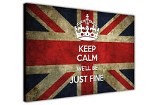 Brexit Quote Keep Calm We'll Be Just Fine Picture Framed Canvas Wall Art print
