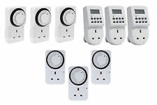 DIGITAL LCD ELECTRONIC PLUG-IN PROGRAMMABLE 24 HOUR WEEKLY TIMER SWITCH SOCKET