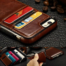 Thin Leather Card Pocket Wallet Case Cover Pouch for Apple iPhone6 6s/Plus 5s SE