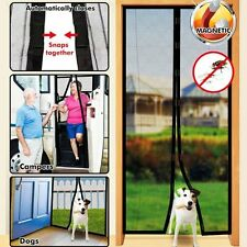 Hands Free Magic Mesh Screen Net Door with magnets Anti Mosquito Bug Curtain B9