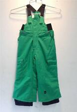 Quiksilver Boys/Kids Preschool Cinder Ins Snow Ski Winter Bib/Pants Green NEW