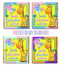 Personalised Cute Giraffe Baby Shower Chocolate Favours. Girl/Boy/Mixed/Twins