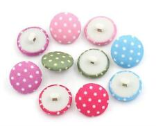 12PCS Acrylic Colored Plaid Dot Shank Buttons Sewing Craft DIY Scrapbook 14 17MM