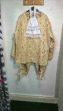 Stage.Theatre..Panto gold prince costume...hire quality L-XL..new