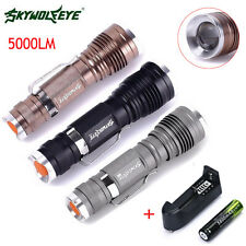 5000Lumen CREE 3 Modes Q5 LED Flashlight Mini Torch Light + Battery+ Charger lot
