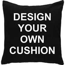 DESIGN YOUR OWN CUSHION 43CM SQUARE UNIQUE PERSONALISED GIFT - ANY TEXT