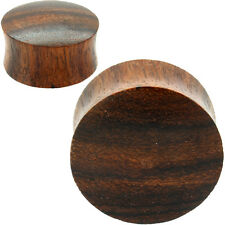 PAIR-CONVEX SONO WOOD PLUGS CARVED -ORGANIC FLESH TUNNELS-EAR GAUGES-EAR PLUGS