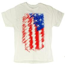 Men's American Flag 4th Of July Tribute Patriotic Distressed T-Shirt