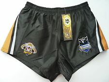"""NRL WESTS TIGERS RUGBY LEAGUE SUPPORTERS SHORTS """"TELSTRA LOGO""""- BRAND NEW"""