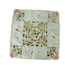 French Country Doiley Tulips Doily Lace Placemat, Runner Doily for Table or D...